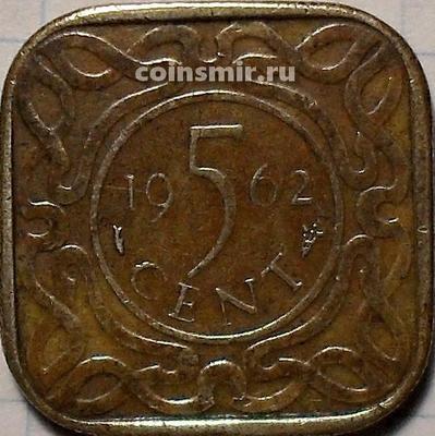 5 центов 1962 Суринам.