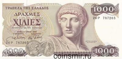 1000 драхм 1987 Греция.