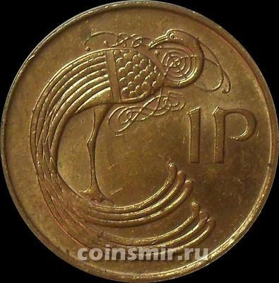 1 пенни 1995 Ирландия. Павлин. (в наличии 1996 год)