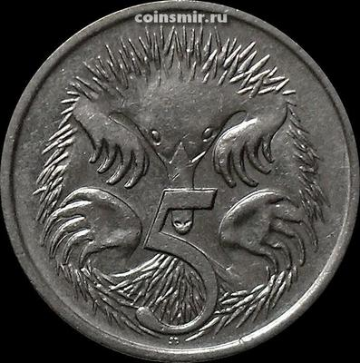 5 центов 1989 Австралия. Ехидна.