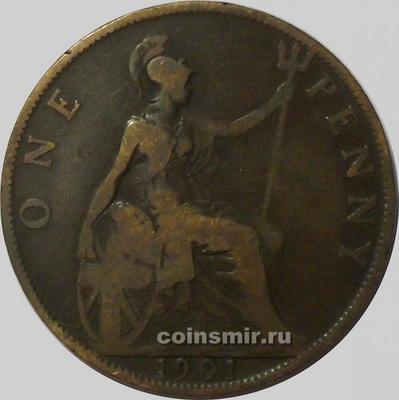 1 пенни 1901 Великобритания.