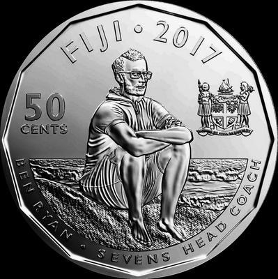 50 центов 2017 острова Фиджи. Сборная Фиджи по регби-7 – золотые медалисты Олимпиады-2016.