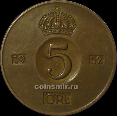 5 эре 1952 TS Швеция.