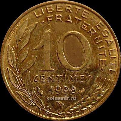 10 сантимов 1998 Франция.