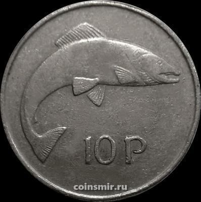 10 пенсов 1974 Ирландия. Лосось.