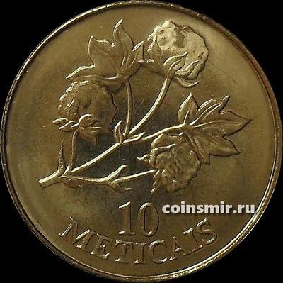 10 метикал 1994 Мозамбик. Хлопок.