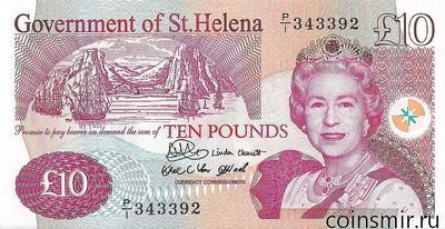 10 фунтов 2004 остров Святой Елены.