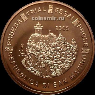 5 евроцентов 2005 Сан-Марино. Европроба. Specimen.