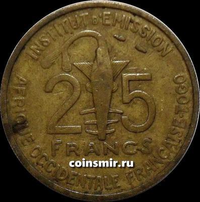 25 франков 1957 Того. Французская западная Африка.