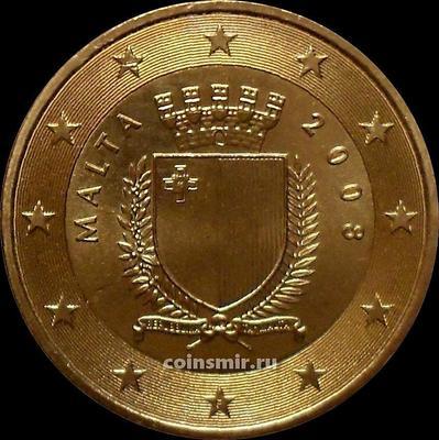 50 евроцентов 2008 Мальта. Герб государства.