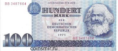 100 марок 1975 Германия (ГДР) Карл Маркс.