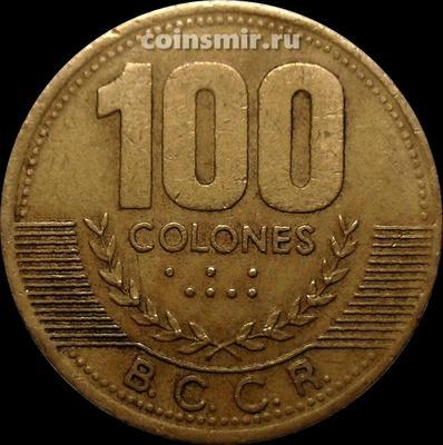 100 колонов 1998 Коста-Рика.