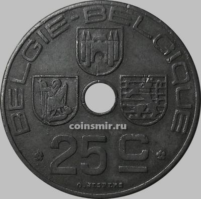 25 сантимов 1942 Бельгия.  BELGIE-BELGIQUE.