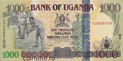 1000 шиллингов 2009 Уганда.