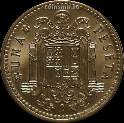 1 песета 1966 (1969) Испания.