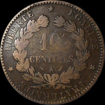 10 сантимов 1895 А Франция.