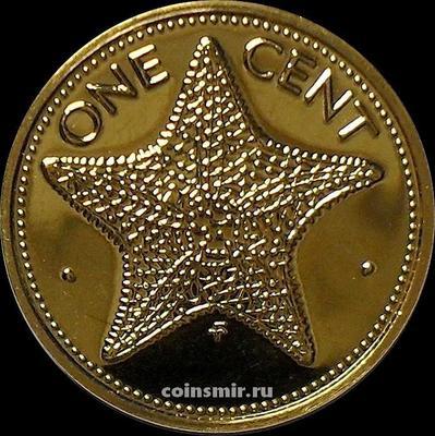 1 цент 1976 Багамские острова. Морская звезда. BUNC.
