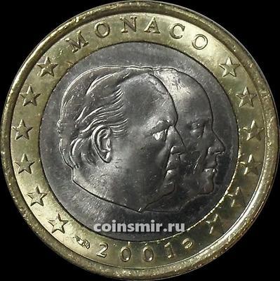 1 евро 2001 Монако.