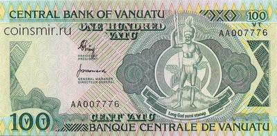 100 вату 1982 Вануату. Серия АА.