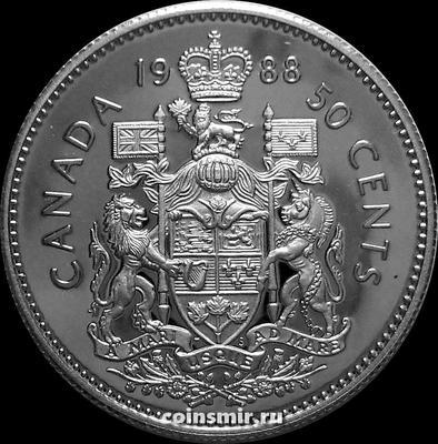 50 центов 1988 Канада. Пруф.
