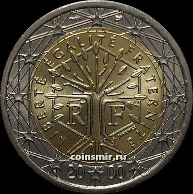 2 евро 2000 Франция. UNC