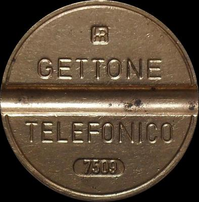 Жетон телефонный 1975 года Италия. 7509  IPM - Industria Politecnica Meridionale.