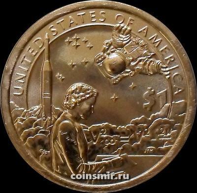 1 доллар 2019 D США. Космическая программа.