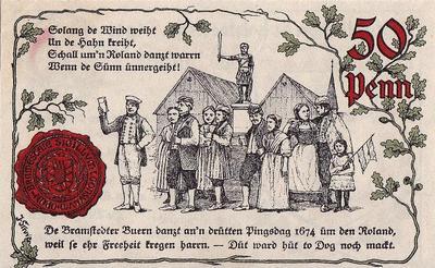 25 пфеннигов 1921 Германия г.Бад Брамштедт (Шлезвиг-Гольштейн). Нотгельд.