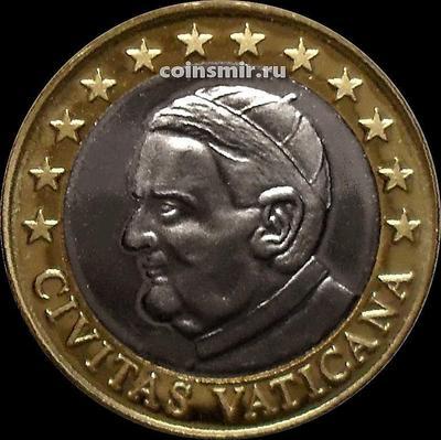 1 евро 2010 Ватикан. Портрет. Европроба. Specimen.