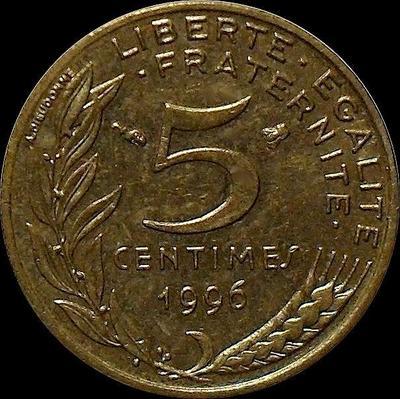5 сантимов 1994 Франция. Рыбка.