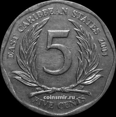 5 центов 2004 Восточные Карибы.