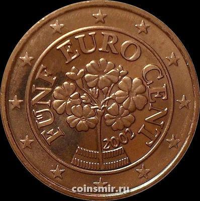 5 евроцентов 2002 Австрия. Альпийская примула.