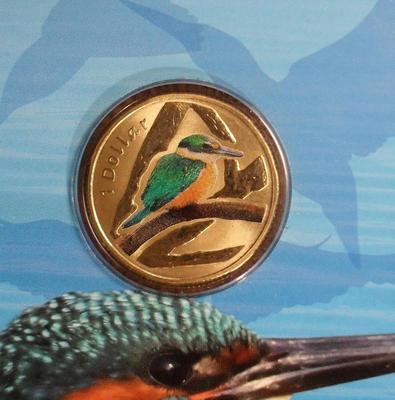 1 доллар 2011 Австралия. Обыкновенный зимородок.