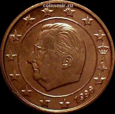 1 евроцент 1999 Бельгия. Король Бельгии Альберт II.