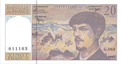 20 франков 1997 Франция.