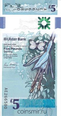 5 фунтов 2018 Северная Ирландия.