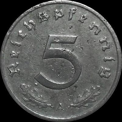 5 пфеннигов 1942 А Германия.