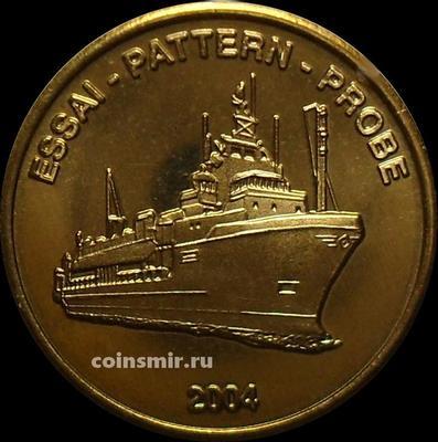 20 евроцентов 2004 Норвегия. Корабль. Европроба. Ceros.