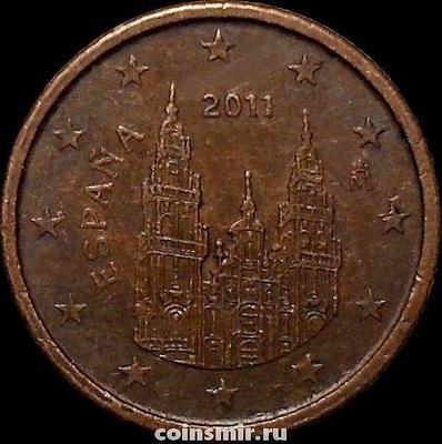 1 евроцент 2011 Испания. Кафедральный собор Святого Якова.