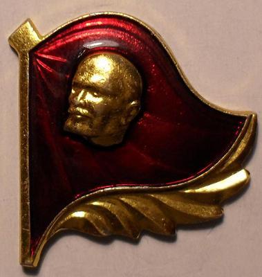 Значок В.И.Ленин. Флаг.
