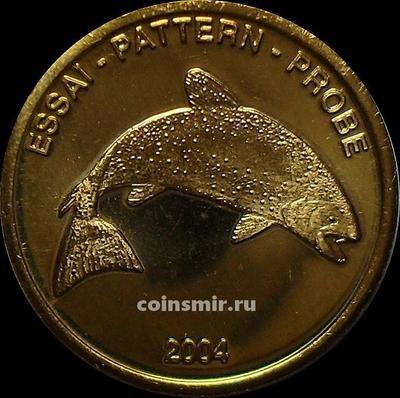 10 евроцентов 2004 Норвегия. Лосось. Европроба. Ceros.