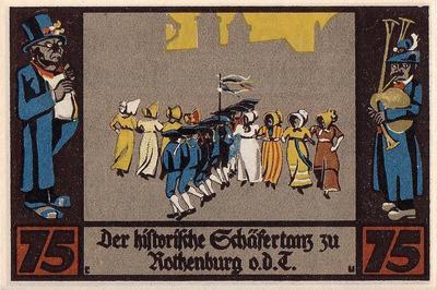 75 пфеннигов 1921 Германия. г.Ротенбург (Бавария). Нотгельд.