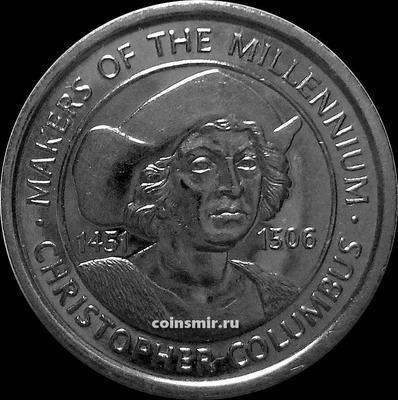 Жетон Христофор Колумб 1451 -1506. Миллениум 2000.