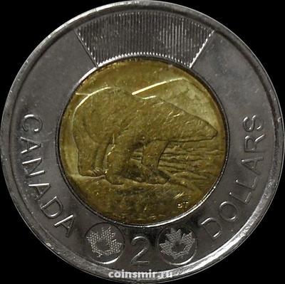 2 доллара 2012 Канада. Белый медведь.
