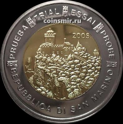 2 евро 2005 Сан-Марино. Европроба. Specimen.