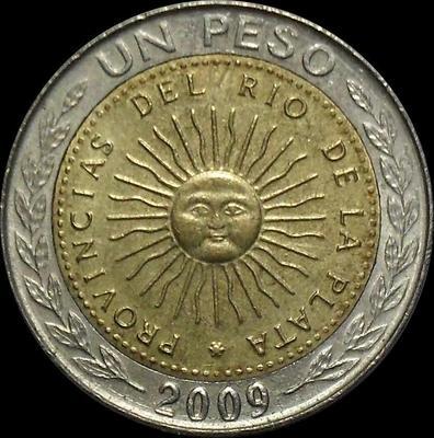 1 песо 2009 D Аргентина.