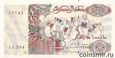 200 динар 1992 Алжир.