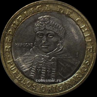 100 песо 2001 Чили.
