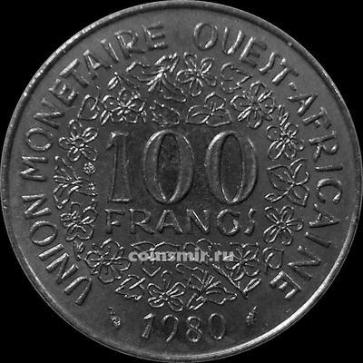 100 франков 1980  КФА BCEAO (Западная Африка).