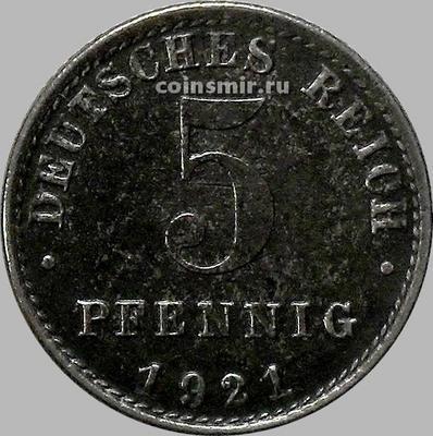5 пфеннигов 1921 А Германия. VF